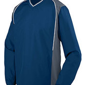 Youth Water Resistant Polyester Diamond Tech V-Neck Pullover