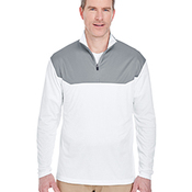 Adult Cool & Dry Sport Colorblock Quarter-Zip Pullover