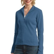 Ladies Flatback Rib Full Zip Jacket