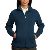 Ladies Sweater Fleece Full Zip Jacket