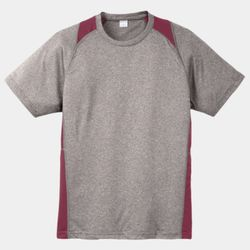 Unisex Heather Colorblock Poly T Shirt Thumbnail