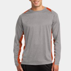 Unisex Poly Heather Colorblock Long Sleeve Thumbnail
