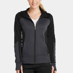Ladies Fleece Colorblock Jacket Thumbnail