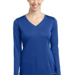 Ladies Long Sleeve Poly T-Shirt Thumbnail