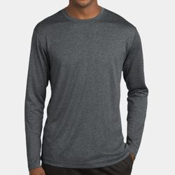 Unisex Poly Heather Long Sleeve T-Shirt Thumbnail