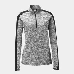 Ladies Heather 1/4 Zip Pullover Thumbnail