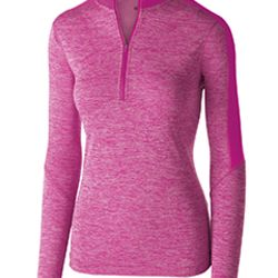 Ladies' Dry-Excel™ Electrify Performance Polyester Knit Half-Zip Training Pullover Thumbnail