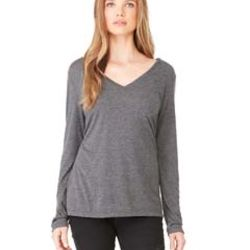 Ladies' Flowy Long-Sleeve V-Neck Thumbnail